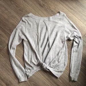 American Eagle Open Back (tie) Sweater